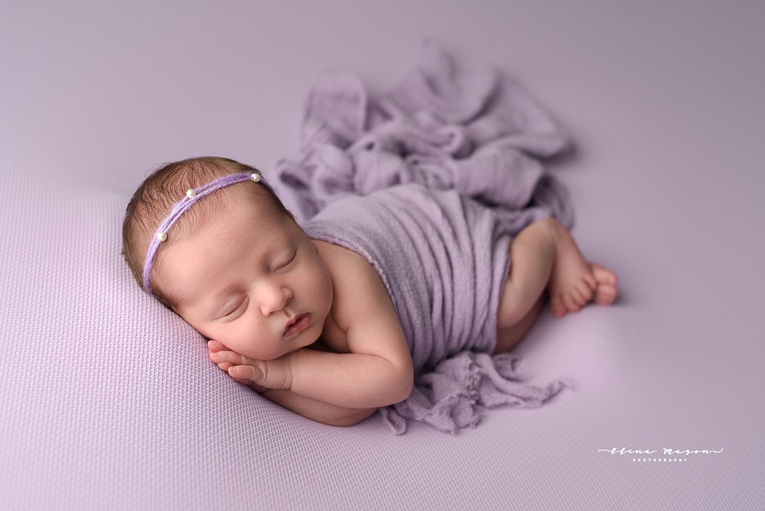 newborn photography Belfast, newborn photography Northern Ireland, newborn photographer, newborn photos, baby photos, baby wrapped, baby in purple, newborn outfit, newborn dress, sleeping baby, photographer, photographer Belfast, Elena Mason Photography